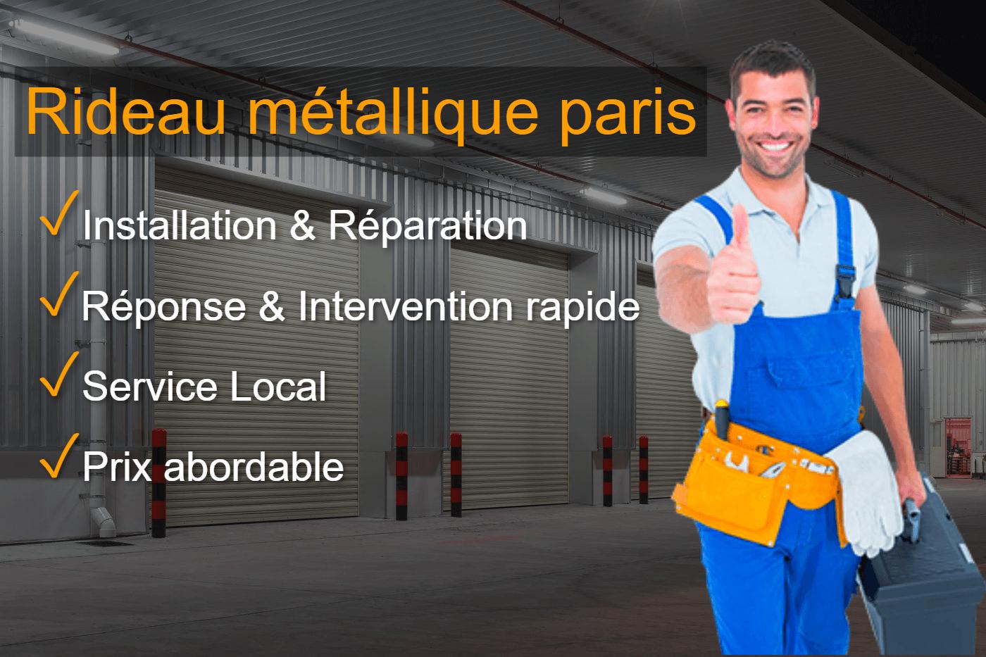 Dépannage rideau métallique Paris 11